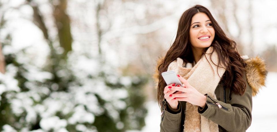 Smartphone: Gut geschützt durch die Winterzeit